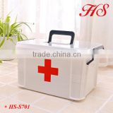Safety plastic protable medicine cabinet storage medicine box