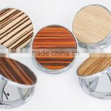2015 hot sales pocket compact wood hand mirror,MF103