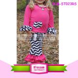 2016 brand name remake kids boutique clothing wholesale trendy children chevron clothing