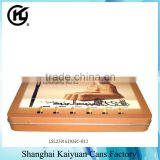 High Quality Rectangular Candy Chocolate Gift Tin Can Box(various tin lids and printings)