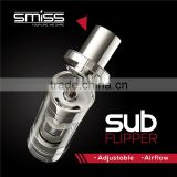 bulk e cigarette purchase huge vapor vaporizer pen SMISS SUB Flipper top inject sub ohm tank