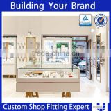 high quality led lighting glass vitrine display cabinet for jewelry