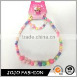 Eco-friendly fashion children jewelry set kids beaded necklace and bracelet                                                                                                         Supplier's Choice
