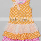 One piece latest kids girl party wear western lace dress pernickety baby frock wedding dresses