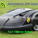 Smartphone App Control Robot Grass Cutter/programmable kawasaki brush cutter with Water-proofed charger