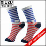 winter stripe knitted boot socks floor socks 100%merino wool