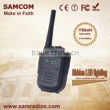 SAMCOM CP-120 Portable High Quality Shatterproof Hidden LED Lighting Vhf Walkie Talkie Digital Two Way Radio