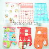 printed cheap stock oven mitten kitchen textiles free samples surplus stock China supplier buying in bulk wholesale