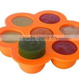 Wholesale BPA free FDA food grade non stick 7 cups silicone ice cube trays for baby food