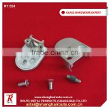 Stainless Steel 304 Square Glass Clamp 8-15mm Balustrade Glass Clamp For Railing Project