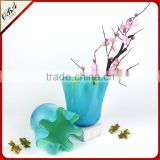 Hand-blown Modern Style Cheap Chinese Cabbage Glass Vase / Eco-friendly Home Decor Big Glass Flower Vase