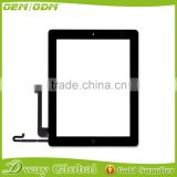Black and white touch screen For iPad 4 Touch Screen Digitizer Panel Glass with Home Button