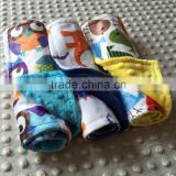 20 cute cartoon designs availble of two layers minky baby wipe cloth BC16032102S
