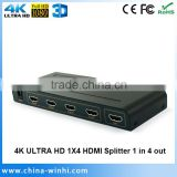 Support 3D deep color Blue-Ray 4K 1 in 4 out HDMI switch splitter