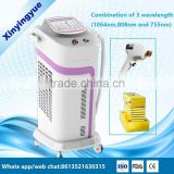 Alexandrite laser 755 / 808 / 1064nm combination 808nm diode painless laser hair removal machine
