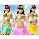 hawaii flower necklace leis costume girls summer luau hula grass skirt