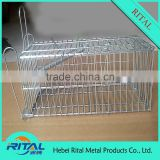 2015 Hot Sell Products Live Catch Wire Rat or Mouse Trap CagLive Catch Wire Rat or Mouse Trap Cage With Released Door Galvanized