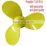 Aluminum Plastic Propeller 7 1/4 X5-A for 2.0-5hp outboard motor/boat plastic propeller/plastic fan propeller