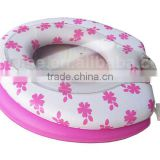 SOFT Mother-Baby family PVC Toilet Seat cover, toilet seat cover w/printing, soft family adult & kid/child toilet seat