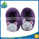 Trade assurance baby anti-skidding animal plush novelty slippers