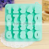 Hot selling number shaped silicone ice cube tray