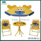 Garden set kids camping beach chair cartoon sun shade