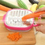 2017 new products plastic box grater rotary cheese grater manual vegetable shredder potato grater spiral slicer