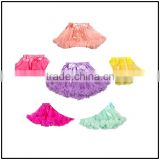 Top sale fluffy tutu pettiskirt for baby girls tutu dress sloid color various color chiffon tutu dress in China