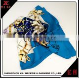 China supplies cheap spring blue scarf silk woman