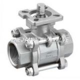 3PC screwed ball valve with ISO5211 Mounting Pad