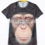 In Stock 3D Print T-shirt Orangutan Design Polyester & Cotton Material 3D Animal Pattern