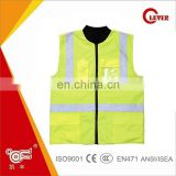 Pink 3M Reflective Winter Safety Jacket With Multi-pockets