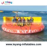 New design U shape inflatable float water banana boat for 4-6 people