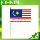 hot sale wholesale cheap customized Malaysia hand shaking flag