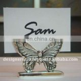 Silver Butterfly Wedding Favor Place Card Holder