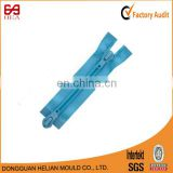Eco-friendly two way close end plastic zipper with two sliders seperating nylon coil zipper