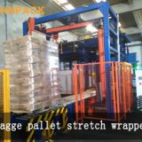 In-line Automatic Rotary Arm Pallet Stretch Ring Wrapping Machine For Bags
