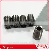 black garments metal column cord end string stoppers