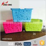 whoseware rectangular plastic storage basket with handle                                                                         Quality Choice