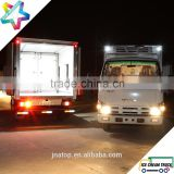double temperature adjustable partition wall refrigerated truck light duty NPR chassis ice cream yogurt reefer truck