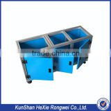 Color anodized sheet metal cabinet