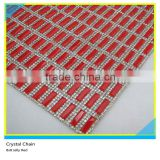24*40 cm Crystal Rhinestone Mesh Iron On Sheets 5*15 mm Siam Rectangle Heat Transfer Sheets