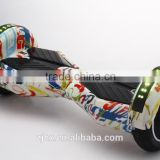 "8"" bluetooth speaker 2 wheels electric self balancing scooter graffiti fashion colored drifting longboard"