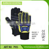 oil and gas industrial gloves TPR impact Oil field gloves Slip and Oil Resistant Anti cut gloves
