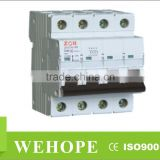 ZYC16-63 miniature circuit breaker, 1p,12p,3p,4p mcb switch,b c d curve circuit breaker