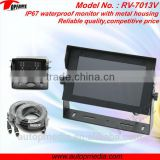 RV-7013V 7 inch car reverse parking system with7 inch Digital Quad images Waterproof Monitor with built in microphone