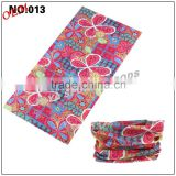 Top quality hot sale 100% polyester one piece multifunctional multi-purpose paisley bandana