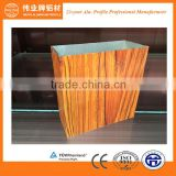 wood grain finished aluminium profile Top 10 aluminium extrusion profile for doors and window