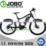 Aluminum Alloy 700C Middle Motor Electric Bicycle / Full Suspension Electric Mountain Bike