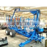 joyo atv log loader with trailer, log grabber trailer, forest log trailer with crane for tractor
